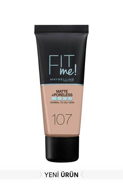 Matte Foundation - Fit Me Matte + Poreless Foundation 107 Rose Beige 3600531549381 FP502342N_FG