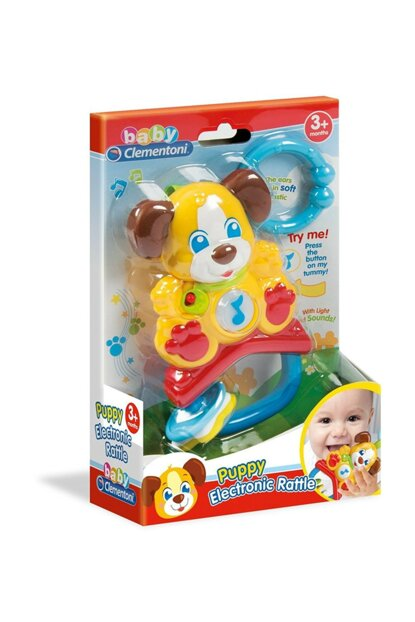 Rattle Baby Clementoni Cute Dog CLE17117