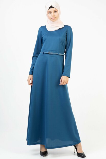 Women's Indigo Belt Long Dress 3687/145