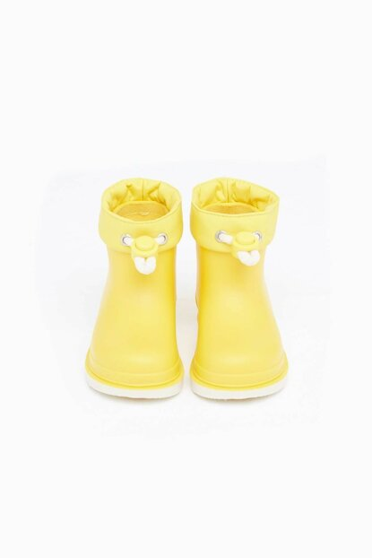 Kids Unisex Yellow Boots 19FWGR10225