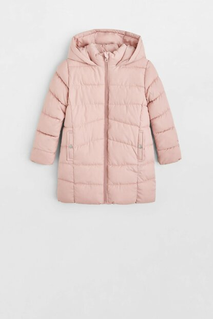 Pink Girl Kids Waterproof Quilted Coat 53043702