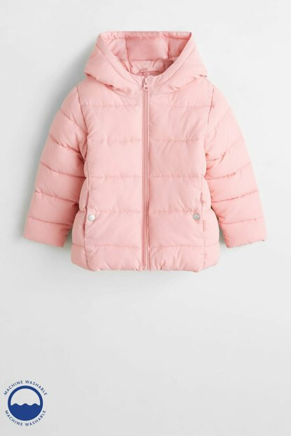 Pink Girl Kids Hooded Waterproof Coat 53033703