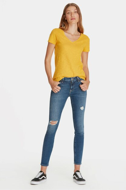 Women's Adriana Ankle Ripped Detail Super Skinny Jean 1072928543