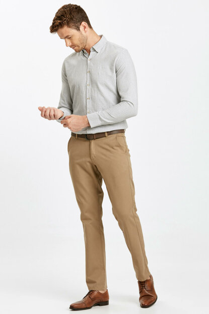 Men's Beige Trousers 8W0887Z8