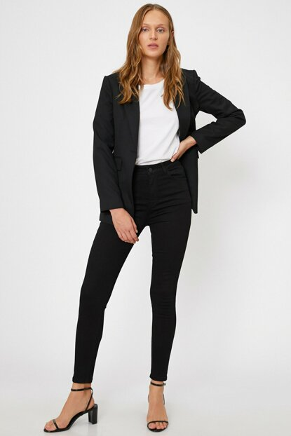 Women Black Trousers 0KAK47353DD