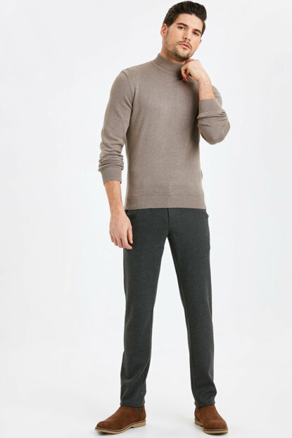 Men's Anthracite Trousers 8WO493Z8