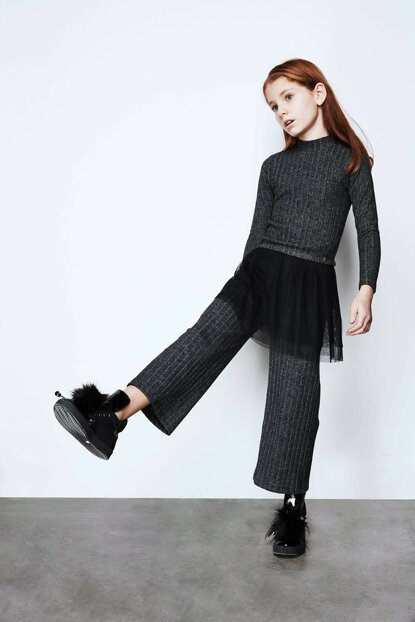 Girl's Anthracite Trousers 19FW0TJ4231