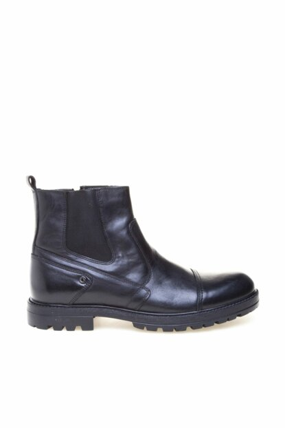 Genuine Leather Black Men Boots 8K1KB66821