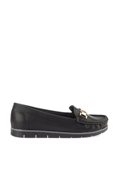 Black Women's Loafer Shoes 01AYY164150A100