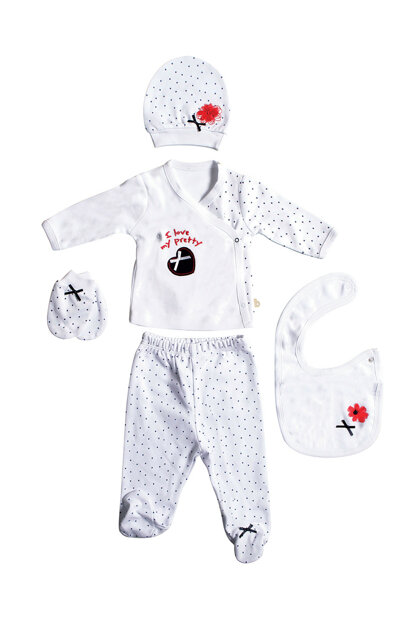 Ecru-Navy Blue Baby Girl My Prety 5 Li Hospital Outlet B02500062076