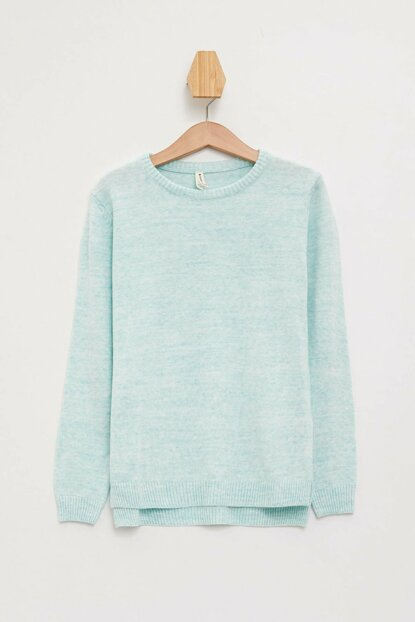 Turquoise Girls Basic Sweater Sweater K9517A6.19AU.TR311