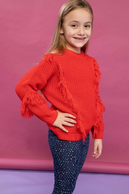 Red Tassel Detailed Thessaloniki Knit Sweater Pullover K0773A6.18WN.RD44