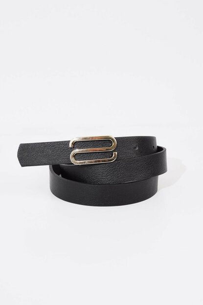 Women's Belt with Gold Buckle Detailed K333 ADX-0000019309