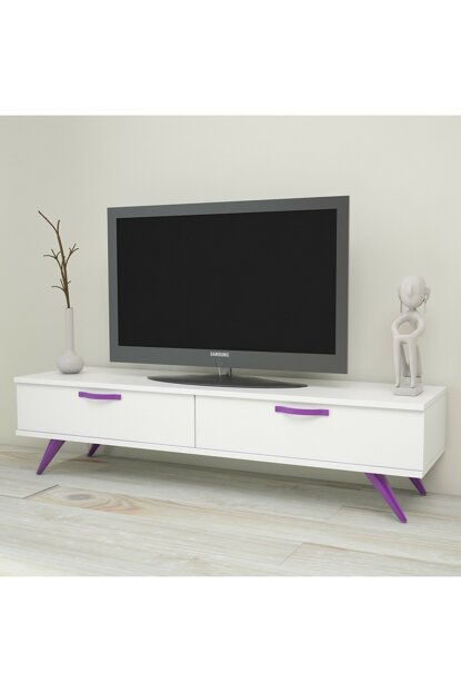 Colour150 Tv Unit 2 Drawers White Body TY-861091