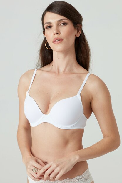 Women's White Dory Soft Push Up Single Bra Pcc-White-B PCC6101