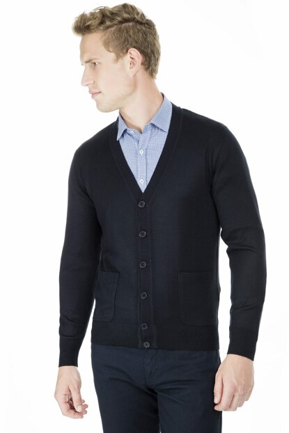 Men's Dark Blue Coat - 518Duzce 518DUZCE