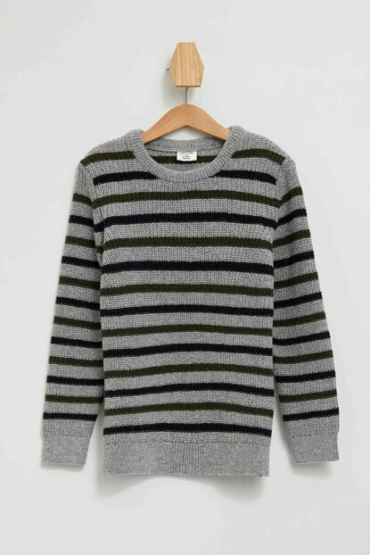 Crew Neck Stripe Sweater L0504A6.19AU.GR228