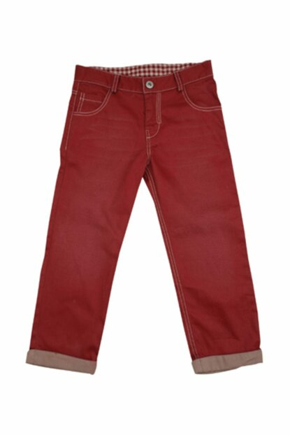 Burgundy Unisex Children Trousers K-42M213HTM01