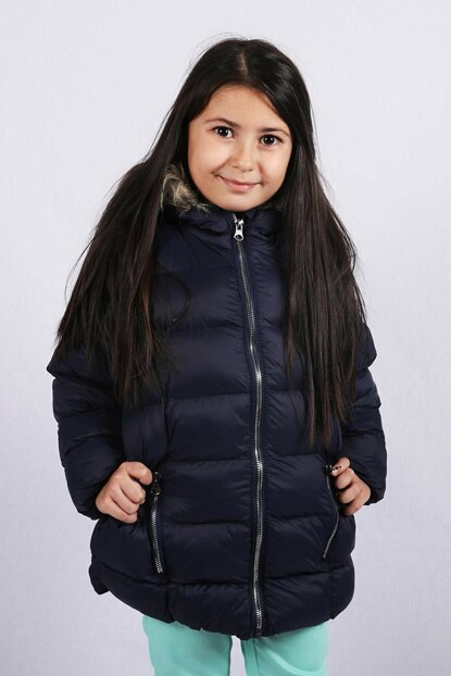 Kids Club 2--5 Years Old Girls Coats Coats Navy Blue Color copycopy521456