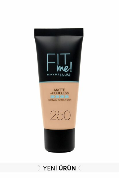 Matte Foundation - Fit Me Matte + Poreless Foundation 250 Sun Beige 3600531324896 FP502342N_FG