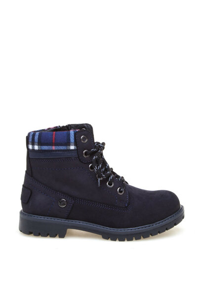 Genuine Leather Navy Blue Boy Boots 8K8NB96224