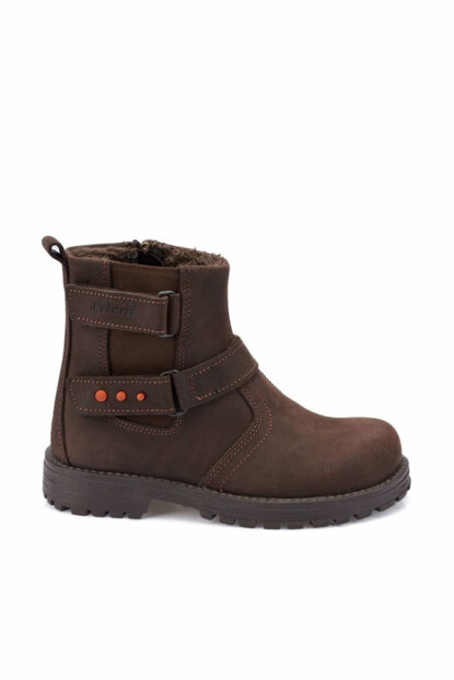 Brown Men's Leather Boots 000000000100331720