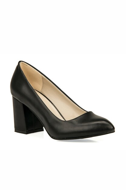 Black Women's Classic Heeled Shoes 93415 462005
