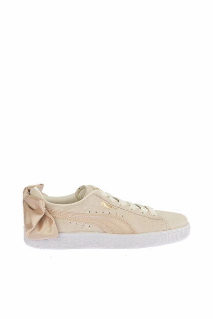 Genuine Leather Women Pink Sport Shoes - Suede Bow Varsity Wn s - 36773207 36773203