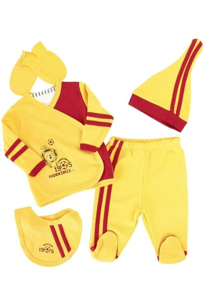Yellow Baby Boy Supporter Galatasaray 5'Li Hospital Outlet AF90143G