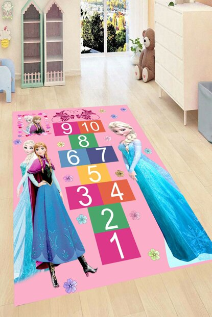 Elsa Hopscotch Game Patterned Digital Printed Carpet RSP001545