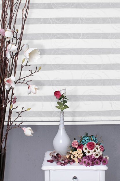 Zebra Roller Blinds Curtain + Skirt Slice Gift Z-101V802