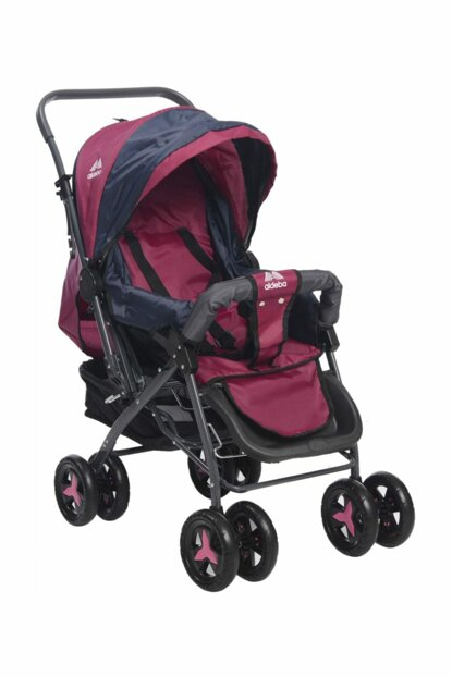 Aldeba 8028 Two Way Baby Carriage - Pink / 3765