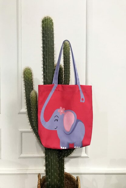 Elephant Patterned Beach Bag 8681846021682