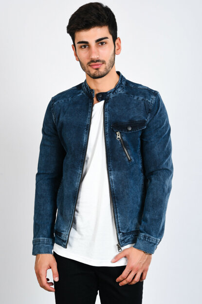 Men's Light Blue Denim Jacket - 111459