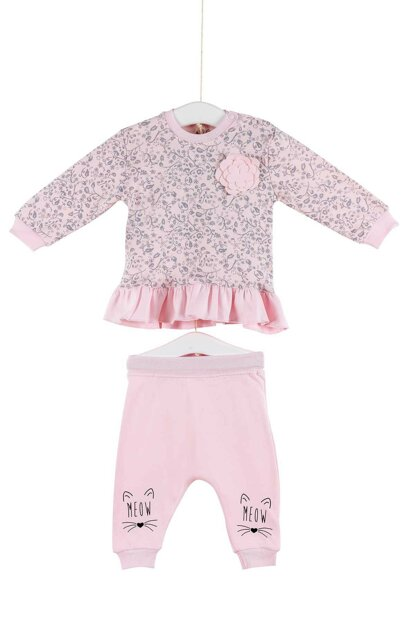 Aziz Bebe Girls Baby Badi Trousers Bottom Top 2 Set 0-24 Months 2935 AZZ002935