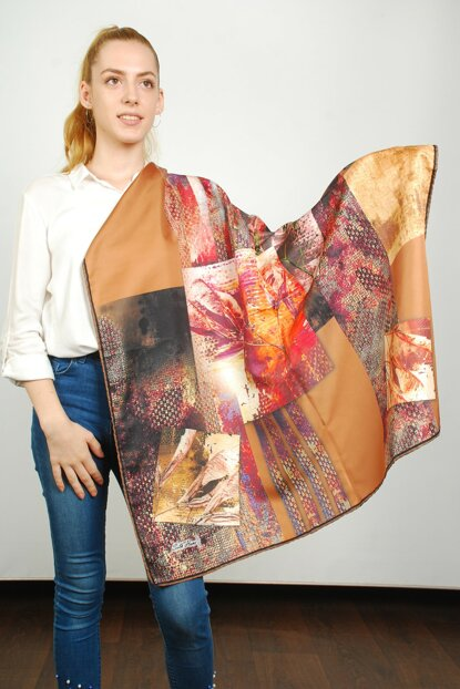 Women Multi Color Sport Polyester Scarf 9351124