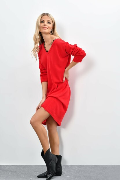 Women's Red Lace Tunic BF1963