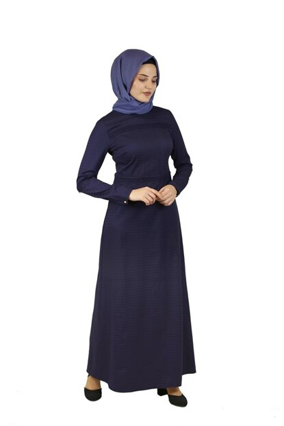 Vintage Ruched Dress Navy Blue 4214 2YLBS160