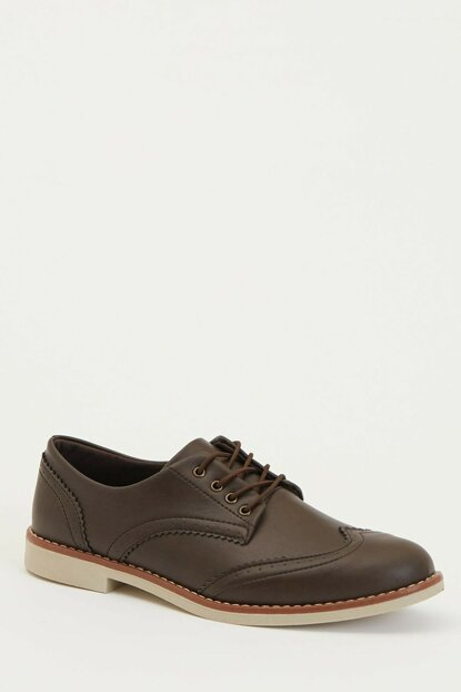 Men's Brown Lace-up Classic Shoes M2418AZ.19AU.BN61
