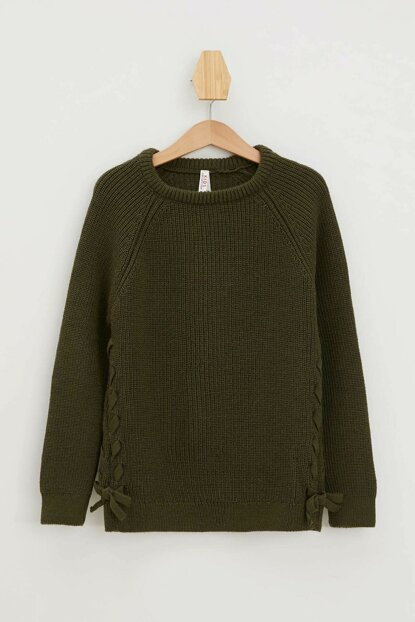 Khaki Girls' Lace Sweater Pullover K9523A6.19AU.KH211