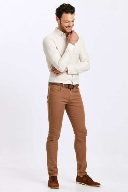 Men's Brown Trousers 8W4582Z8