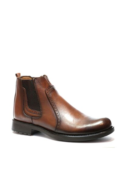 Genuine Leather Brown Men Boots PRA-147242-162816