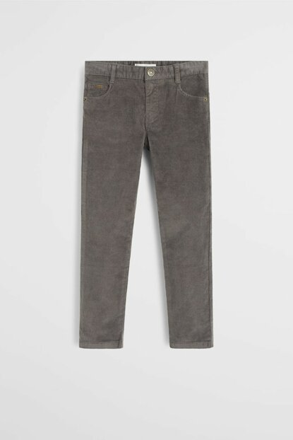 Gray Boy 5 Pockets Corduroy Trousers 53095730