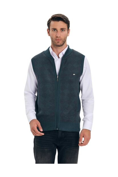 Men's Vest with Battal Zipper CT1003120JB