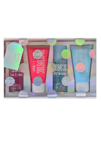 Pink Fresh & Clean, Pink Wild & Breezy Body Spray 75 ml + Body Lotion 75 ml 667542701514