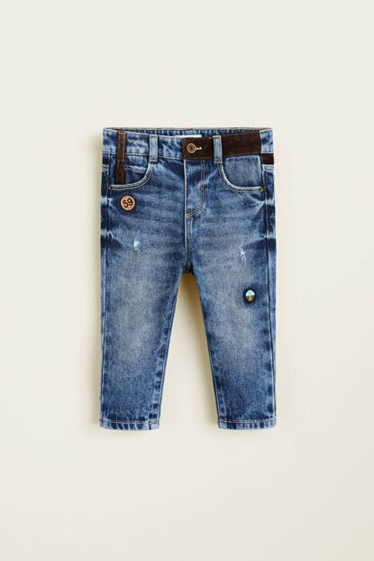 Medium Denim Baby Boy Trousers 33057016