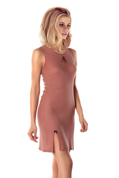 Women's Salmon Soft Nude Nightdress 002-000242