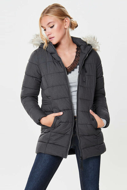 Women's Gray Coat 15157091