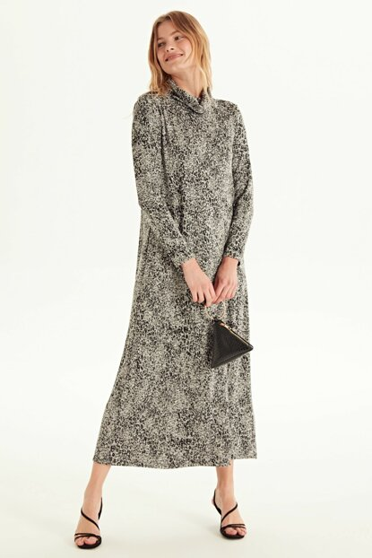 Women's Black Jacquard Dress 9WL086Z8