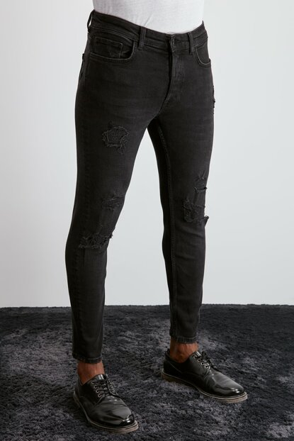 Black Men Destroyl Skinny Jeans TMNAW20JE0435